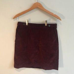 Banana Republic Cord Mini Skirt